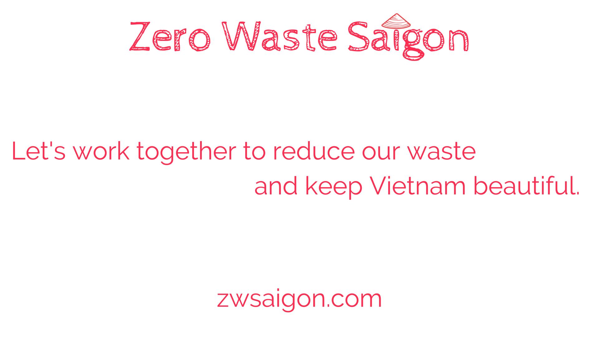 Zero Waste Saigon presentation slide 1